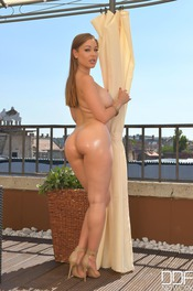 Big Assed Angelica Heart Teases On The Terrace 15
