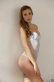 Beautiful Lulu Love Is Posing In Sexy White Bodysuit 01