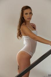 Beautiful Lulu Love Is Posing In Sexy White Bodysuit 06