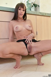 Hot Brunette Alana Cruise Strips Off Her Sexy Black Lingerie 12