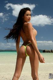 Davon Kim Posing On Beach 08