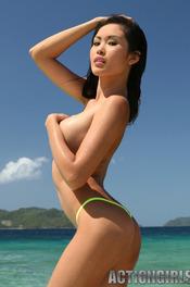 Davon Kim Posing On Beach 11
