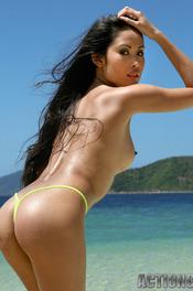 Davon Kim Posing On Beach 14