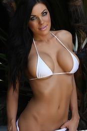 Tiny White Bikini 05