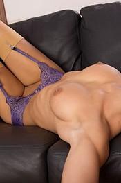 Little Caprice In Sexy Purple Lingerie 08