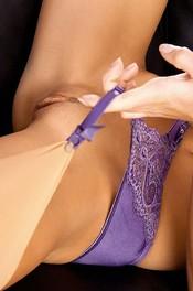 Little Caprice In Sexy Purple Lingerie 11