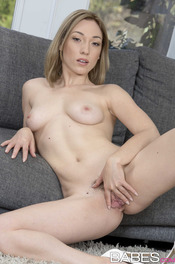 Blonde Hottie Lily Lebeau Strips Off Her Sexy Lingerie 13
