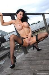 Hot Jasmine Jae Posing In Lingerie Outdoor 10