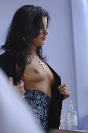 Louise Law Strips Her Lingerie 02