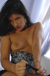 Louise Law Strips Her Lingerie 07