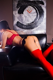 Angelina Red Stockings 10
