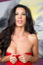 Black Haired Hottie Alexa Tomas Strips On The Couch 02