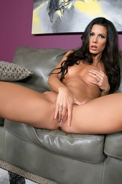 Black Haired Hottie Alexa Tomas Strips On The Couch 15