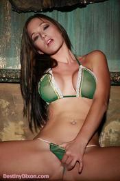 Destiny Dixon Green Bra And Panties 01