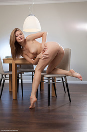 Merry Girl Patritcy Nude In The Dining Room 08