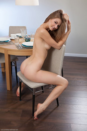 Merry Girl Patritcy Nude In The Dining Room 13