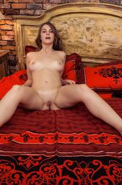 Beautiful Brunette Girl Bella Libre Spreads Her Legs 05
