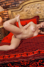 Beautiful Brunette Girl Bella Libre Spreads Her Legs 11