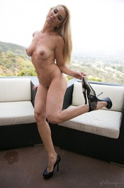 Sandy Gets Nude On The Terrace 06