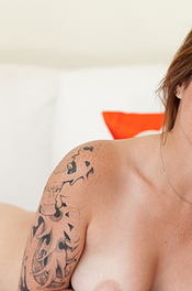 Hailey Leigh Strips On Her Couch 05