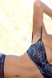 Hanna Hilton Blue Lingerie 02