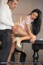 Apolonia Makes Love With Antonio On The Dining Table 07