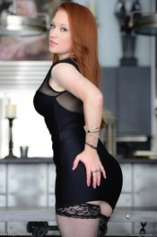 Redhead Babe Lucy Ohara Likes Playing With Her Red Dildo 00