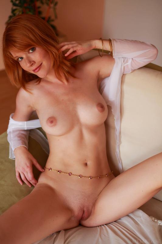 Redhead Hottie Mia Sollis Strips To Naked 13