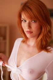 Redhead Hottie Mia Sollis Strips To Naked 02