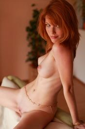 Redhead Hottie Mia Sollis Strips To Naked 03