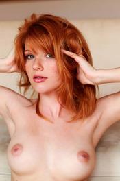 Redhead Hottie Mia Sollis Strips To Naked 05