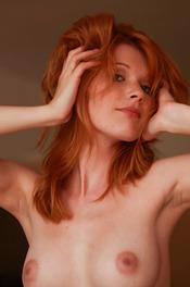 Redhead Hottie Mia Sollis Strips To Naked 16