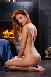 Sexy Ukrainian redhead Michelle H looks hot in every sense of the word 15