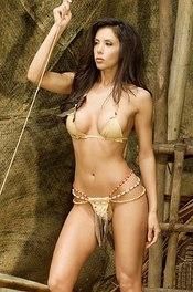 Linda In Bikini On A Wooden Raft 00