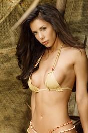 Linda In Bikini On A Wooden Raft 05