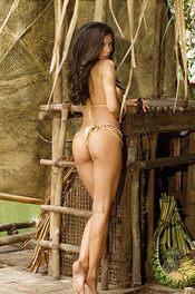 Linda In Bikini On A Wooden Raft 06