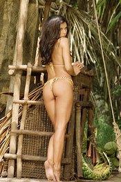 Linda In Bikini On A Wooden Raft 11