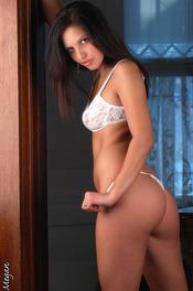 Megan In White Lingerie 11
