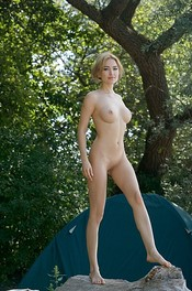 Round Titted Blonde Totally Naked 05