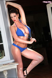 Lana Kendrick - Huge Breasts In Blue Bikini 02