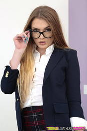 Horny Schoolgirl Amber Gray Sucks And Fucks 00