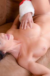 Sexy MILF Pornstar Nikki Capone Fucks With Santa 14