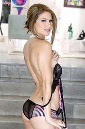 Hot Jenni Lee Strips Her Silky Lingerie 03