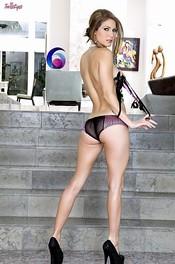 Hot Jenni Lee Strips Her Silky Lingerie 04