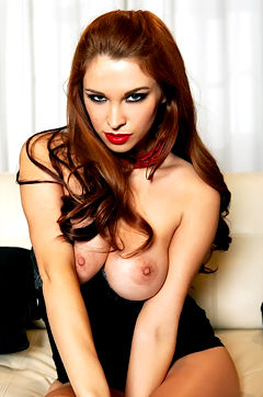 Sabrina Maree sexy black dress