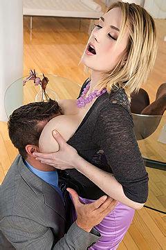 Busty Secretary Gets Fucked