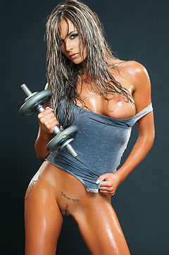 Ava Blue Hot Oiled Nude Body