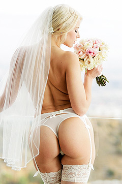 Naked Blonde Bride
