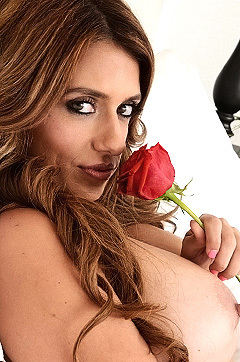 Mia Ryder With Roses