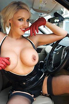 Danii Harwood In Hot Latex